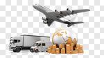 Сlipart Freight Transportation Transportation Shipping Truck Airplane 3d cut out BillionPhotos