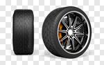 Сlipart Tire Car Wheel Isolated Three-dimensional Shape 3d cut out BillionPhotos