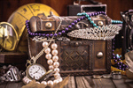 Сlipart Antique Jewelry Treasure Chest Watch Old photo  BillionPhotos