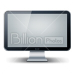 Сlipart Computer Monitor Computer Liquid-Crystal Display Visual Screen Flat Screen vector icon cut out BillionPhotos