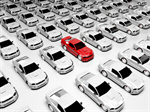 Сlipart Car Parking Lot Car Dealership Red Standing Out From The Crowd 3d  BillionPhotos