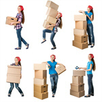 Сlipart Moving House Moving Office Box Women Leaning   BillionPhotos