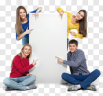Сlipart Banner Young Adult Student Group Of People Friendship photo cut out BillionPhotos