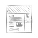 Сlipart Sketch Web Page Icon Set Internet Wire Frame vector icon cut out BillionPhotos