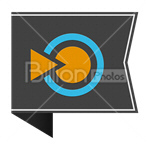 Сlipart blinklist blink list Sharing Social Media Bookmark vector icon cut out BillionPhotos