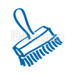Сlipart Brush Dust Cleaning Brush Cleaning Tool Work Tool Blue vector icon cut out BillionPhotos