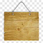 Сlipart Sign Wood Hanging Plank Frame 3d cut out BillionPhotos
