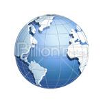 Сlipart globe earth world blue planet vector icon cut out BillionPhotos