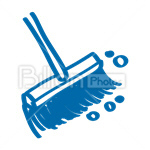 Сlipart Broom Sweeping Cleanup Cleaning Clean vector icon cut out BillionPhotos