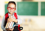 Сlipart Child with book book school backpack blackboard   BillionPhotos
