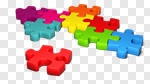 Сlipart Variation Multi Colored Puzzle Jigsaw Piece Exclusion 3d cut out BillionPhotos