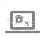 Сlipart Real Estate Search Searching House Apartment vector icon cut out BillionPhotos