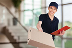 Сlipart Delivering Package Messenger Delivery Person Box   BillionPhotos