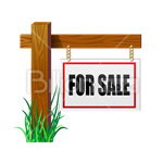 Сlipart real estate real estate sign sign for sale selling vector icon cut out BillionPhotos