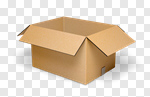Сlipart Box Open Package Moving House Moving Office 3d cut out BillionPhotos