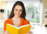 Сlipart Woman read book book child beautiful cheerful   BillionPhotos