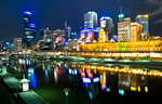 Сlipart Melbourne City Skyline Night Australia photo  BillionPhotos