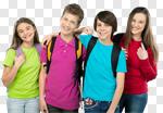 Сlipart school kid back grade group photo cut out BillionPhotos
