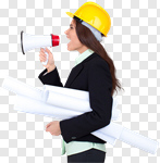 Сlipart Engineer Construction Architect Women Female photo cut out BillionPhotos