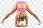 Сlipart yoga woman isolated stretch cut out photo cut out BillionPhotos