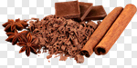 Сlipart Chocolate Cocoa Candy Cinnamon Spice photo cut out BillionPhotos
