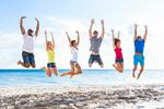 Сlipart jump holidays group friends coast photo  BillionPhotos