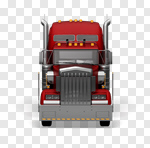 Сlipart Truck Semi-Truck Front View Large Trucking 3d cut out BillionPhotos