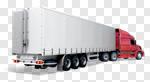 Сlipart Truck Semi-Truck Vehicle Trailer Moving Van Blue 3d cut out BillionPhotos