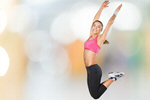 Сlipart fit fitness jump girl winner   BillionPhotos
