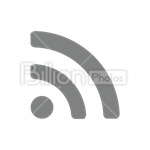 Сlipart rss feed subscribe follow syndicate vector icon cut out BillionPhotos