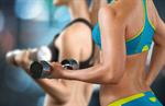 Сlipart Exercising Gym Women Weights Muscular Build   BillionPhotos