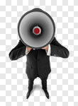 Сlipart Megaphone Business Public Speaker Shouting People photo cut out BillionPhotos