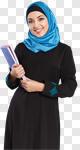 Сlipart arab arabic saudi student girl photo cut out BillionPhotos