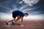 Сlipart runner sprinting man white sprinter   BillionPhotos