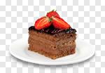 Сlipart cake slice cream birthday closeup photo cut out BillionPhotos