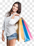 Сlipart shopping retail bags girls latin photo cut out BillionPhotos