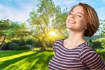 Сlipart Inhaling Breathing Exercise Relief Women Sun   BillionPhotos