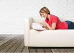 Сlipart Reading Book Sofa Women People   BillionPhotos