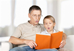 Сlipart Father and child 40s sofa browsing two   BillionPhotos
