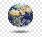 Сlipart Earth Globe Australia World Map Planet 3d cut out BillionPhotos