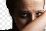 Сlipart woman scared girl sorrow pain photo cut out BillionPhotos