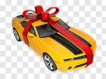 Сlipart Car Gift Christmas Bow Bow 3d cut out BillionPhotos
