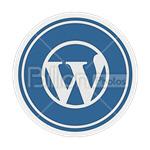 Сlipart wordpress wp wordpress icon wp symbol wordpress favicon vector icon cut out BillionPhotos