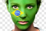 Сlipart Brazil Flag Human Face Brazilian Brazilian Flag photo cut out BillionPhotos
