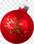 Сlipart Christmas Ornament Christmas Christmas Decoration Red Holiday photo cut out BillionPhotos