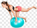 Сlipart Exercising Pilates Fitness Ball Relaxation Exercise Ball photo cut out BillionPhotos