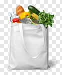 Сlipart Groceries Bag Canvas Shopping Bag Tote Bag photo cut out BillionPhotos