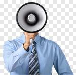 Сlipart Megaphone Using Voice Advertisement Bullhorn Public Speaker photo cut out BillionPhotos