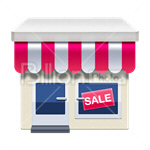 Сlipart Corner Store Store Shop Small Shop Small Business vector icon cut out BillionPhotos