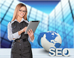 Сlipart Businesswoman with digital tablet SEO Searching Engine optimization   BillionPhotos